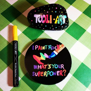 i paint rock whats your superpower painted with acrylic paint pens on rock