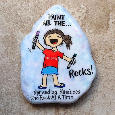 paint all the rocks, spreaking kindness one rock at a time