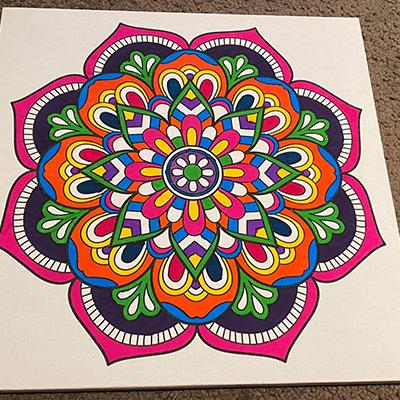 marker art good vibes colorful vivid colors mandala