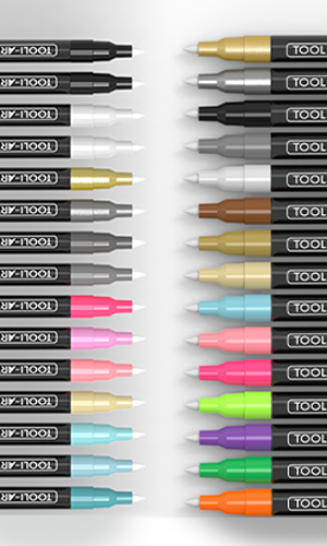 30 extra fine tip acrylic paint pen tips