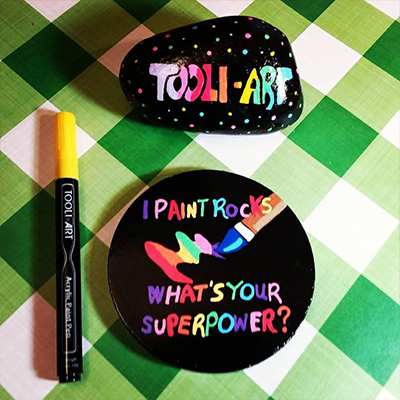 tooli-art I paint rocks whats your superpower on rock