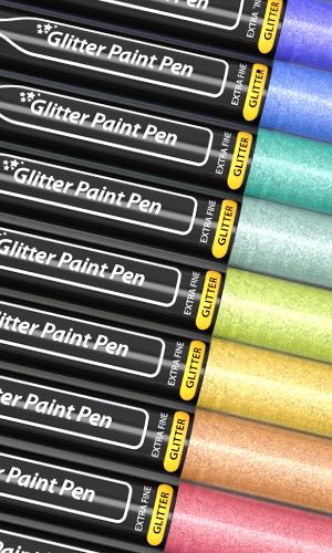 glitter paint pen