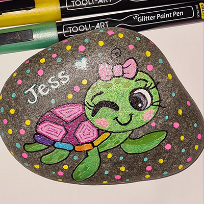 glitter rock of turtle