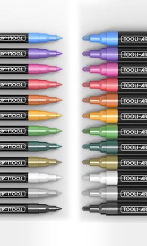 24 metallic pen tips