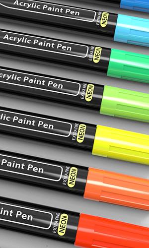 neon acrylic paint pens